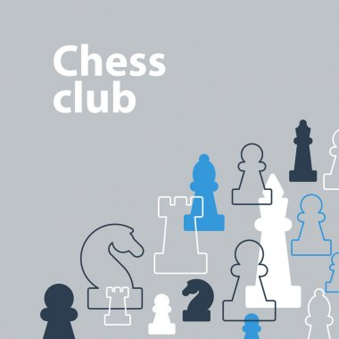 Template with chess pieces