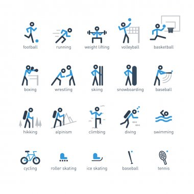 Icons of sports for a shop