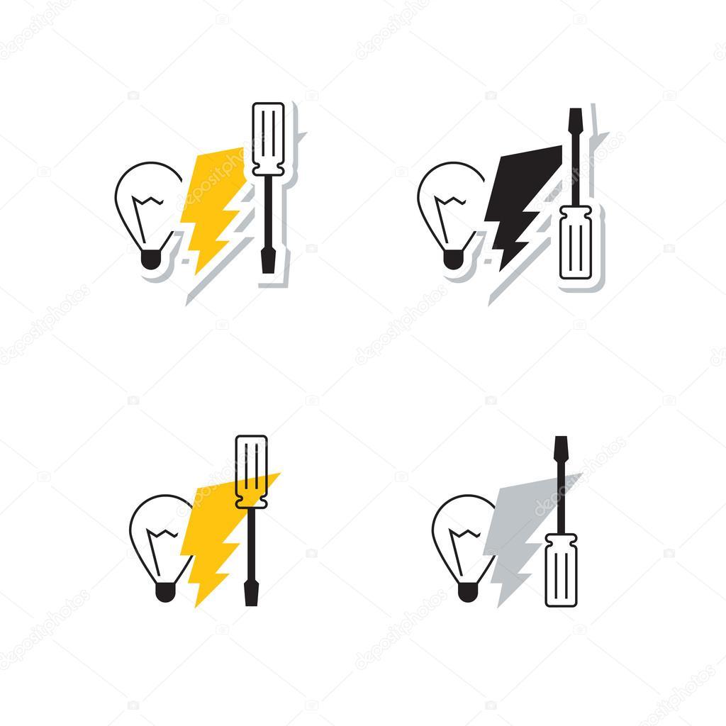 Elektrische Symbole — Stockvektor © Stmool #86242574