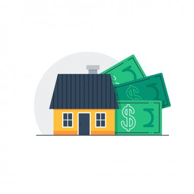 house and dollar banknotes