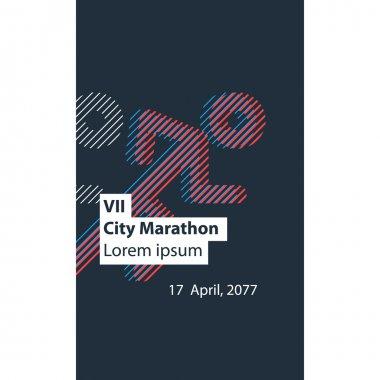runners logo for city marathon