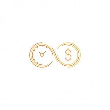 Time is money, savings account concept