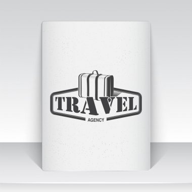 Summer time set. Tourist agency. Travel around the world. Detailed elements. Typographic labels, stickers, logos and badges. Sheet of white paper.