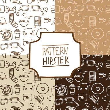 Pattern hipster set, number 1