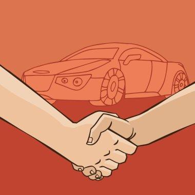 Handshake with car