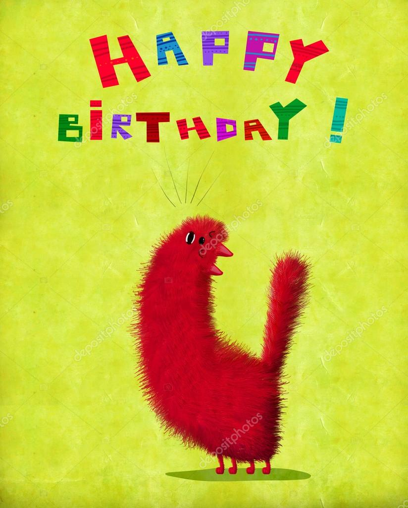 A Cute Birthday Card Red Fluffy Cat Throwing Over Its Head And Singing On The Gradient Background Photo By Andrei Sikorskii