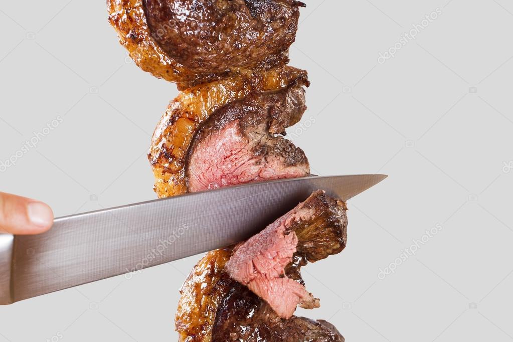 Spit roast sirloin