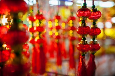 lucky lantern decoration lunar new year in Asia