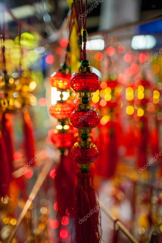Lucky lantern decoration lunar new year in Asia — Stock ...