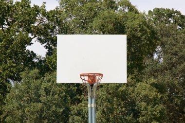 Basketball Hoop With White Backboard