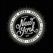 New York nápis razítko