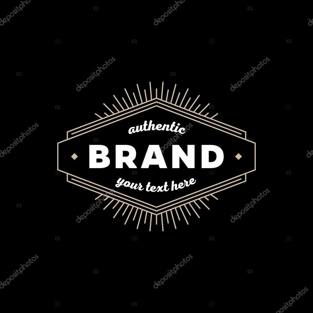 Marke Zeichen schwarz — Stockvektor © tunejadez #96426272