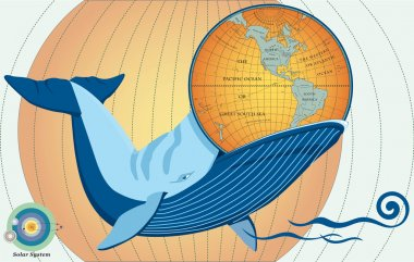 Whale eat globe