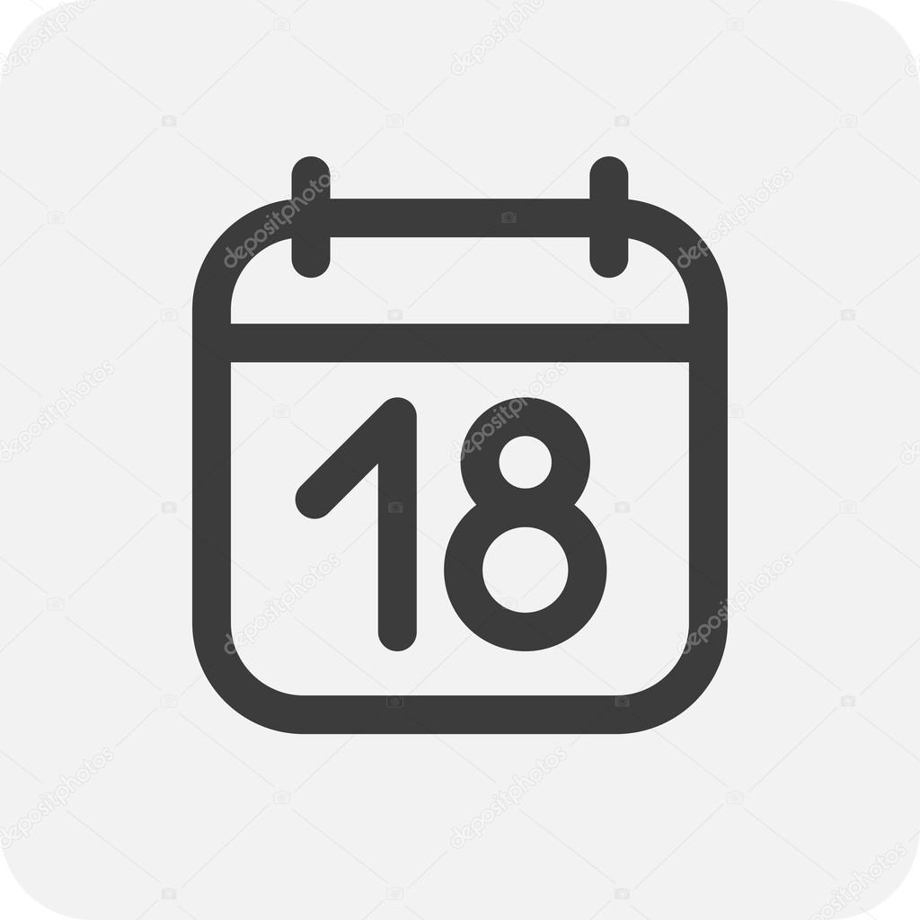 Calendario Vector.Ilustracion Del Icono De Calendario Vector De Stock C Whitebarbie