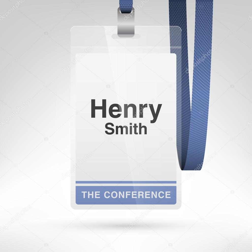 conference badge with name tag stock vector whitebarbie 121890946