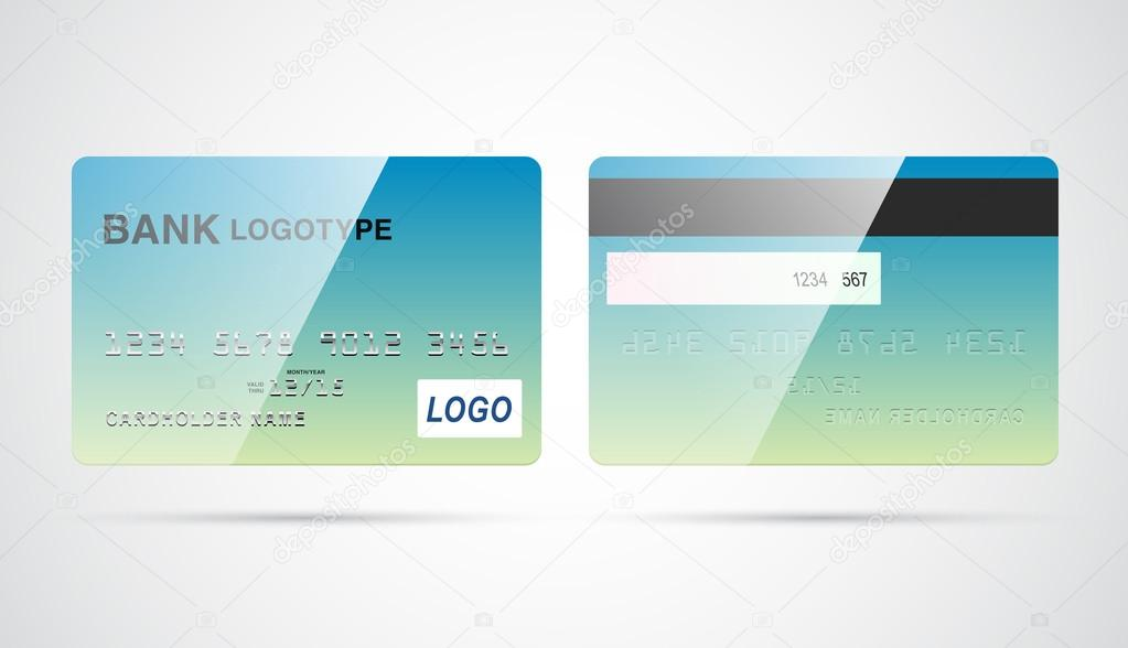 Blank Debit Or Credit Card Template Stock Vector