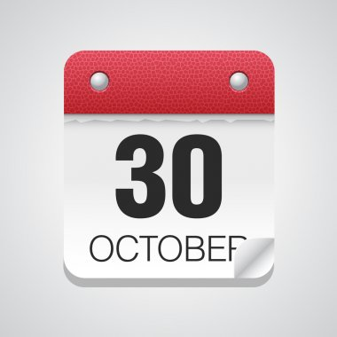 Simple calendar with October 30