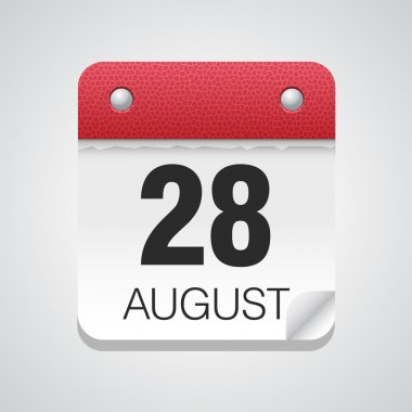 Calendar icon with August 28