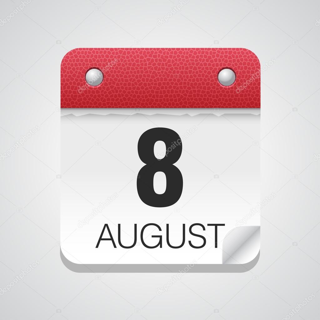 8 月 8 日のカレンダー アイコン...