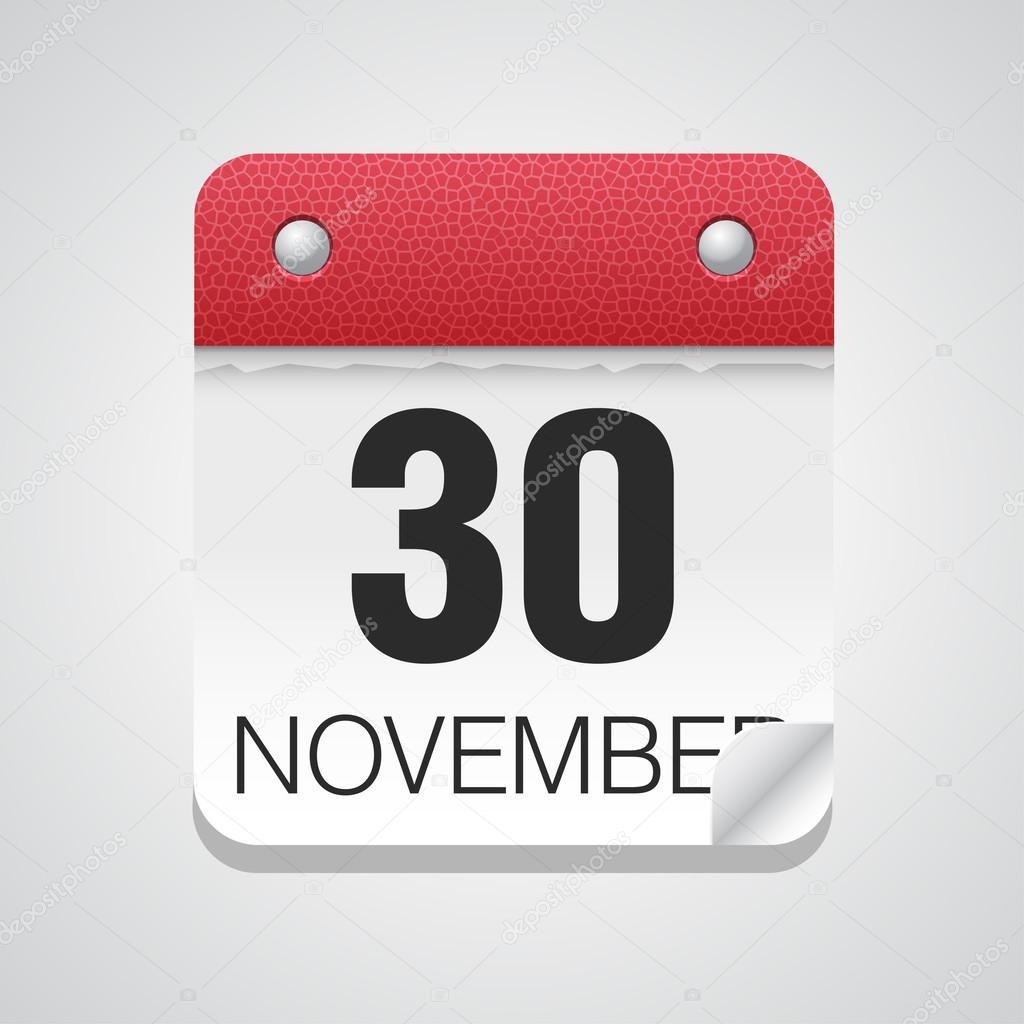 シンプルなカレンダー 11 月 30 ...