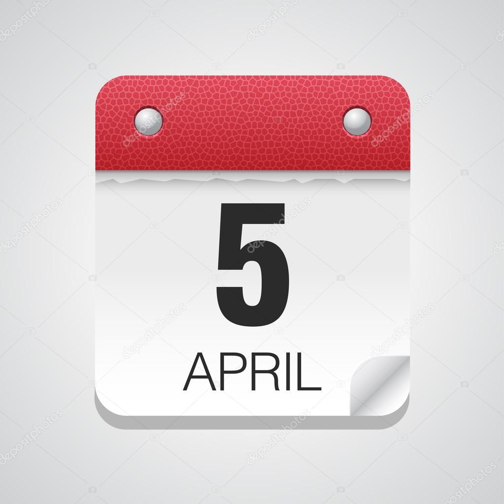 April Calendar Illustration : Calendar icon with april — stock vector whitebarbie
