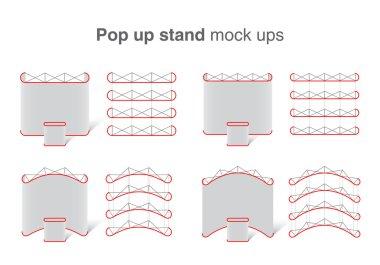 Set of pop up stands mock up