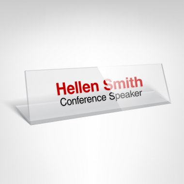 Conference name plate