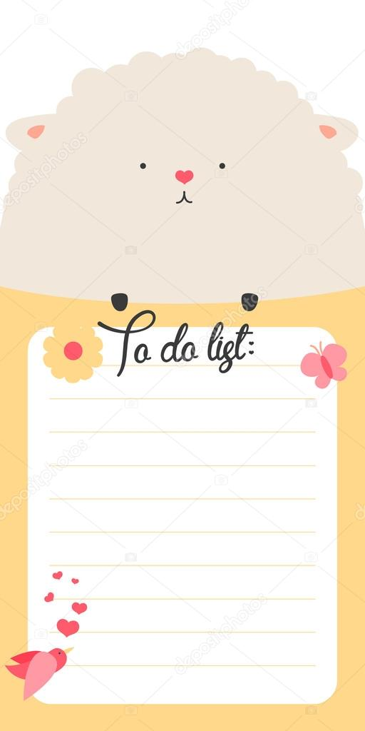 to do list with cute ship stock vector whitebarbie 80620012