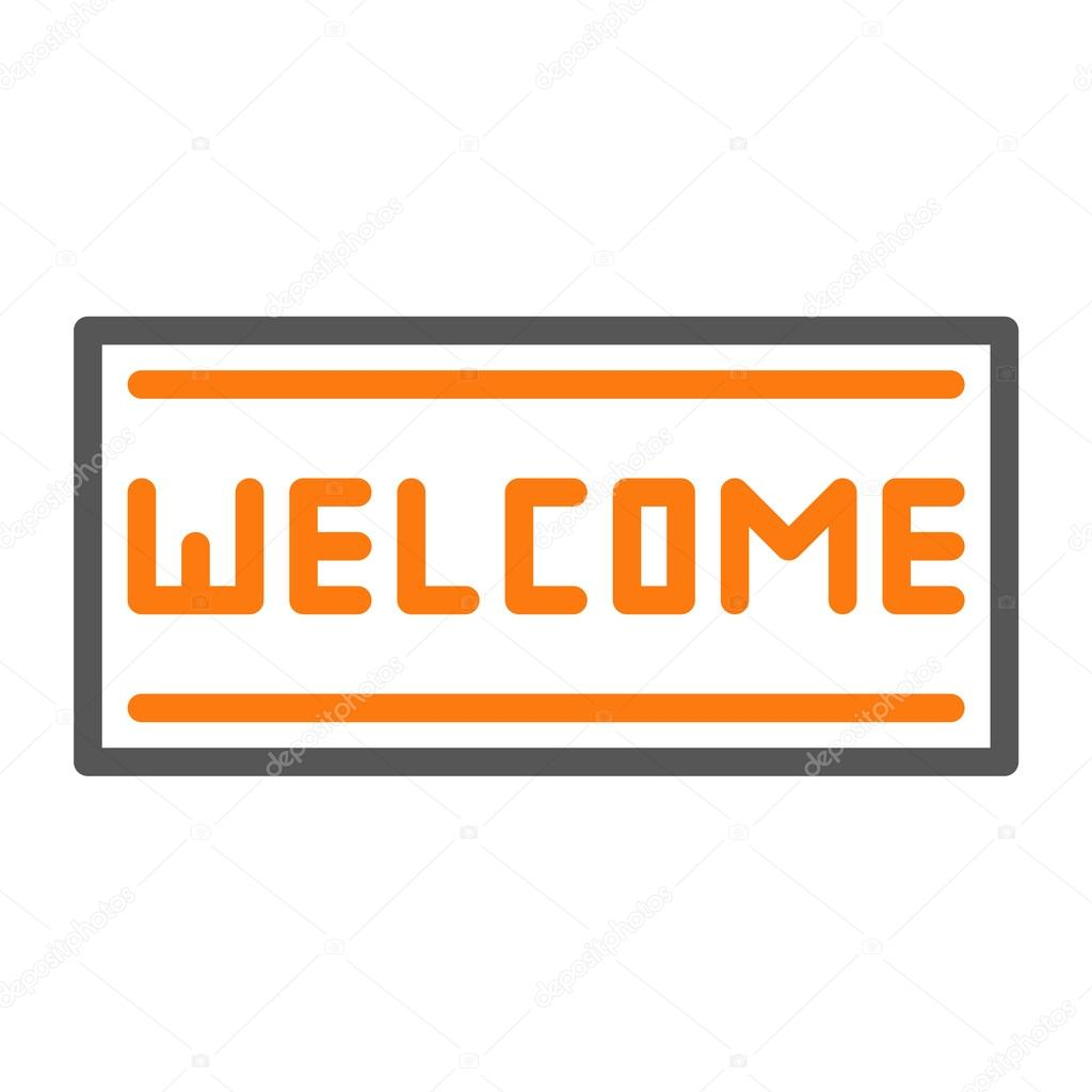 Welcome mat icon — Stock Vector © whitebarbie #89970436