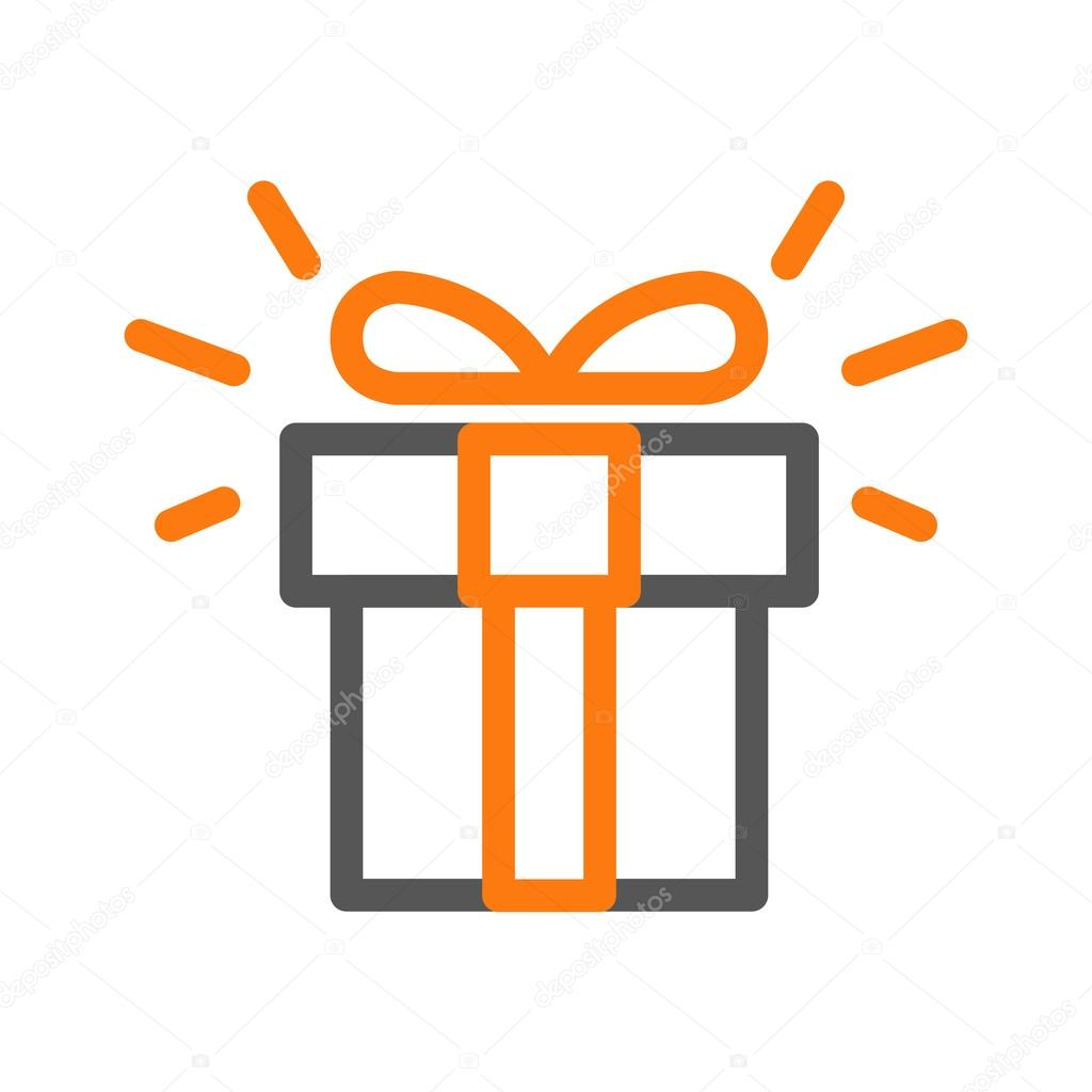 Gift box icon — Stock Vector © whitebarbie #89970462