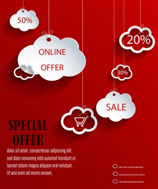 Clouds web design with discounts