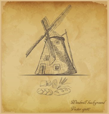 Old windmill background
