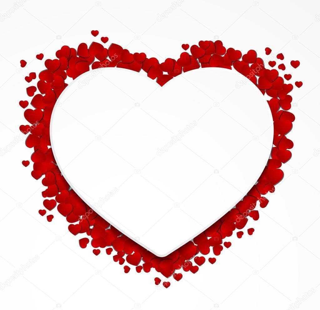 etiqueta engomada de papel de corazón — Vector de stock © gordanas ...