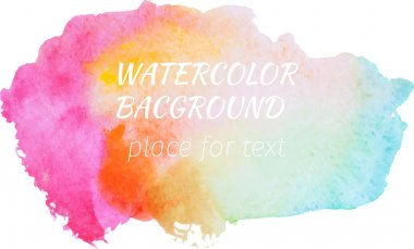 Watercolor background with bright colors for your design. clip art vector