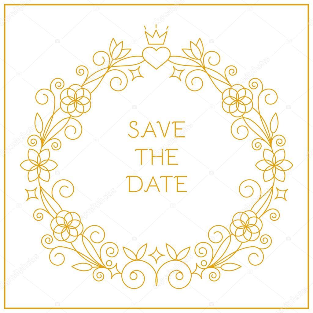 Marco para invitaciones de boda — Archivo Imágenes Vectoriales ...
