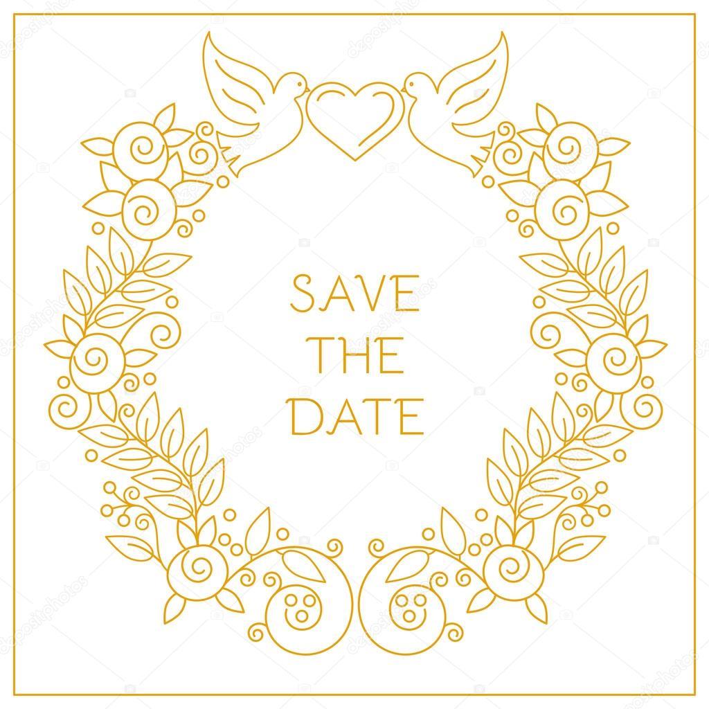 molduras para convites de casamento vetores de stock yulia337