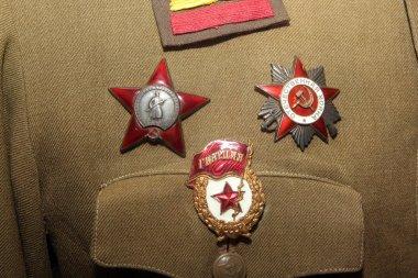 Soviet awards on military uniform