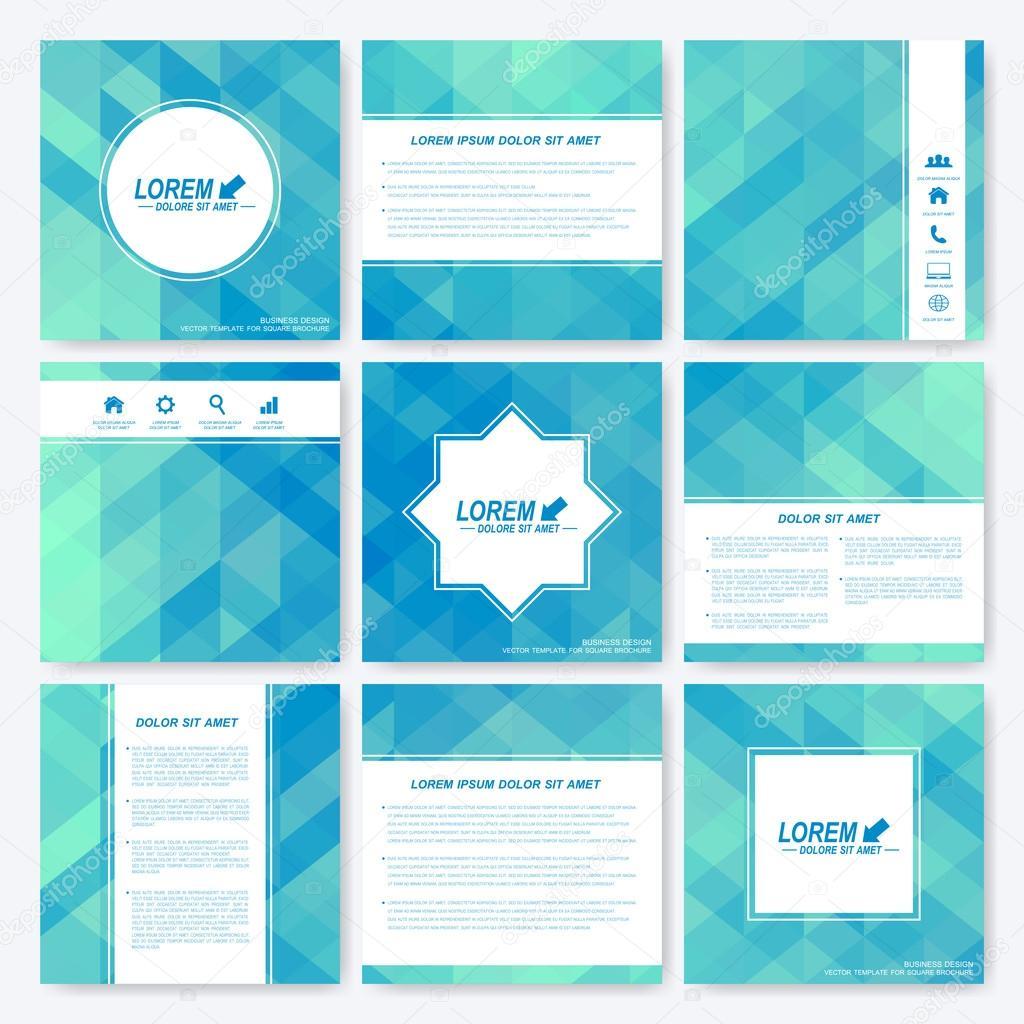 Blaue Reihe quadratische Vorlage Broschüre. Wirtschaft, Wissenschaft ...