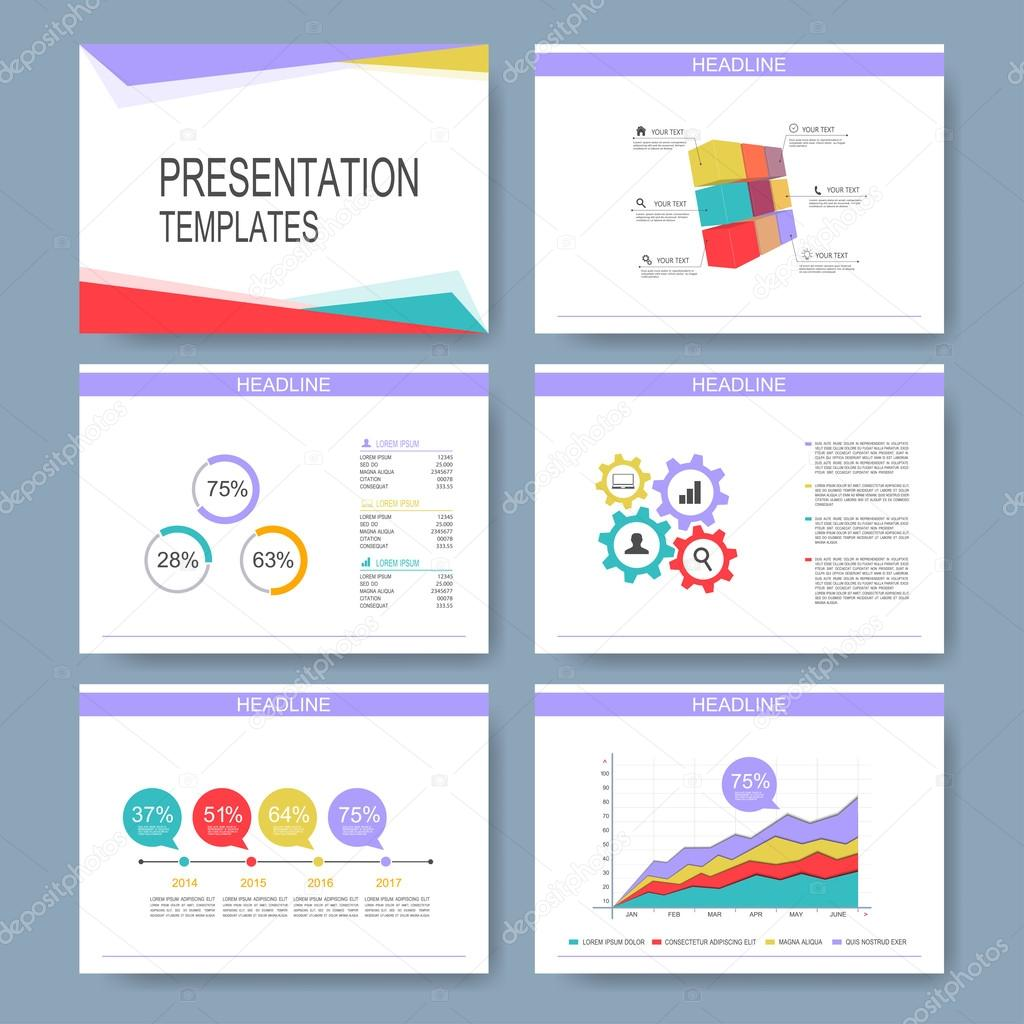 Set of vector templates for multipurpose presentation slides modern set of vector templates for multipurpose presentation slides modern business design with graph and charts ccuart Images