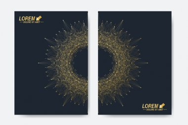 Modern vector templates for brochure, Leaflet, flyer, cover, magazine or annual report. A4 size. Business, science, medicine and technology design book layout. Abstract presentation with round