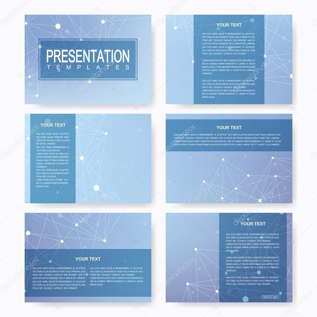 set of vector templates for presentation slides brochure leaflet