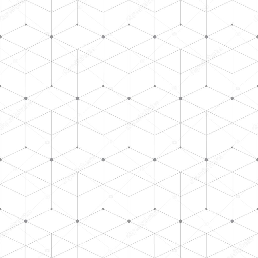 Abstract geometric pattern dot with rhombuses. Repeating seamless background vector illustration