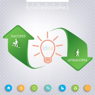 Success and Unsuccess Modern template infographic . Can be used for workflow layout, diagram, chart, number options, web design