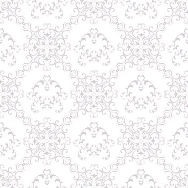 Seamless Texture wallpapers in the style of Baroque . Background of gray and white color . Can be used for backgrounds and page fill web design