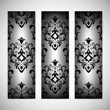 """Картина, постер, плакат, фотообои """"Коллекции вертикальные баннеры в стиле барокко. Современные векторные иллюстрации"""", артикул 71978177"""