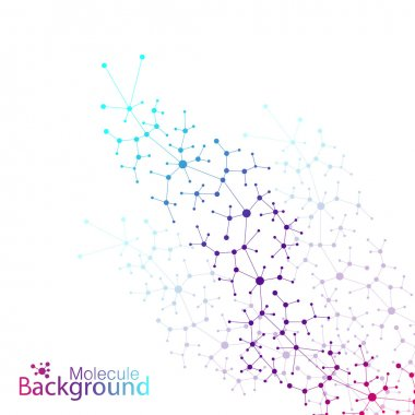 Geometric colorful background molecule and communication. Vector illustration