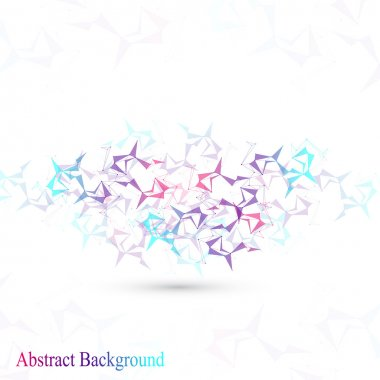 Polygonal Abstract background. Low poly, molecule, communication with connected dots and lines. Vector Illustration