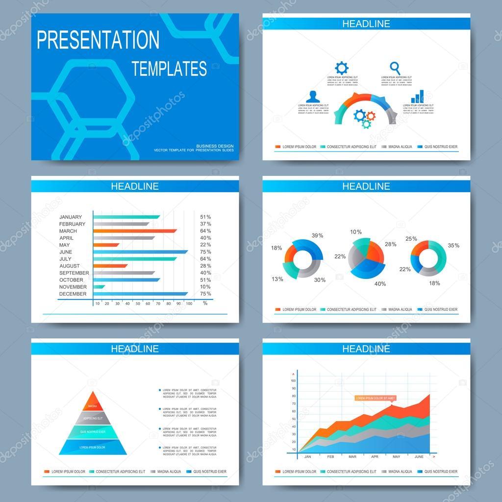 Conjunto de vectores plantillas para las diapositivas de la ...