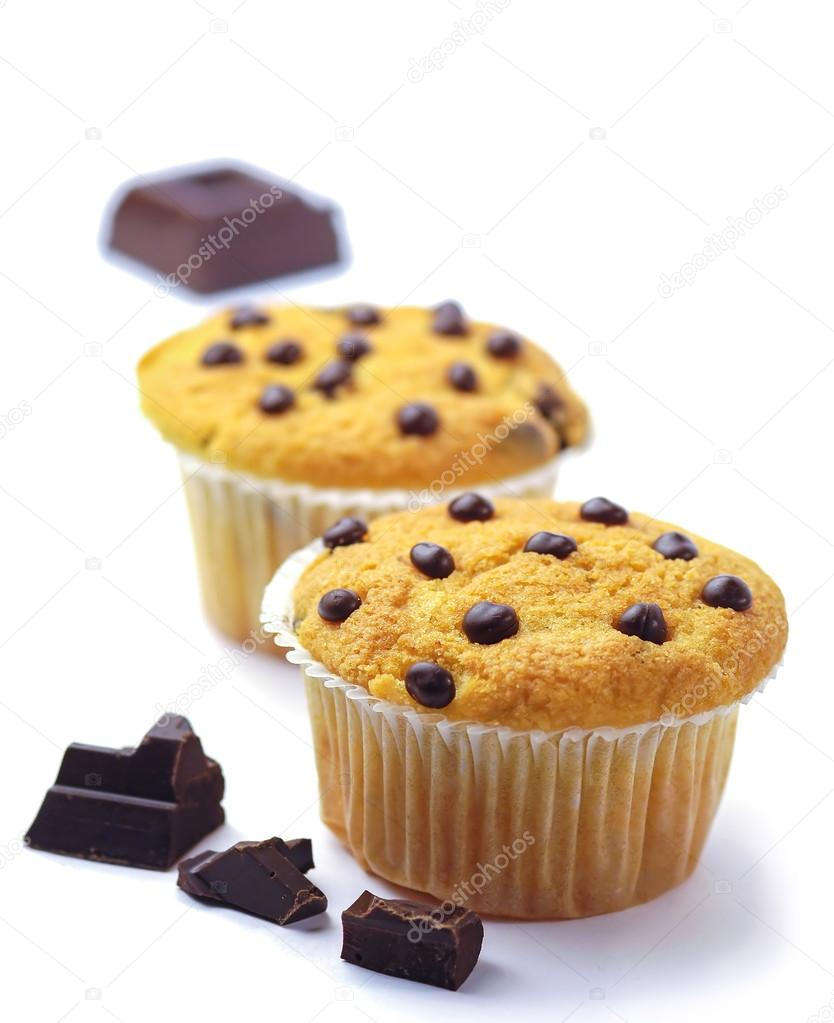Muffins with chocolate drops — Stock Photo © aizram18 #74328739