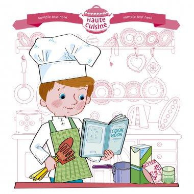 Boy-cook.Illustration